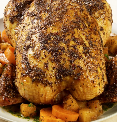 Caribbean Roast Chicken with Pineapple and Sweet Potatoes