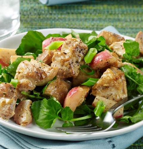 Chicken Thighs with Sauteed Radishes