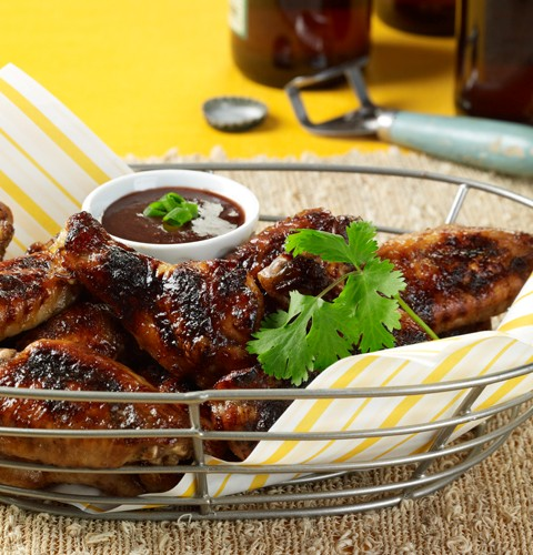 Chicken Wings with Grilled Ginger Plum Coulis