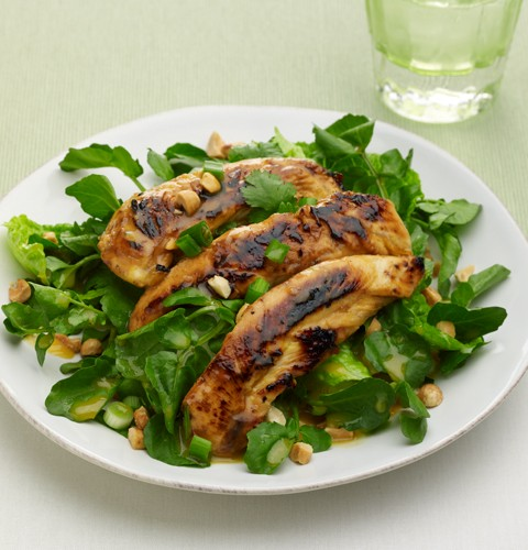 Chopped Watercress Chicken Salad with Asian Orange Dressing