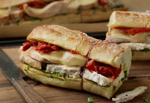 Warm Tuscan Chicken Sandwiches