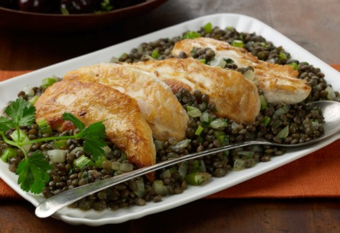 Warm Chicken-Lentil Salad