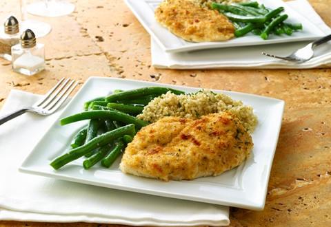Crusted Parmesan Chicken Breasts